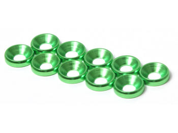 M4 CS Washer 10pcs (Green) by JQRacing