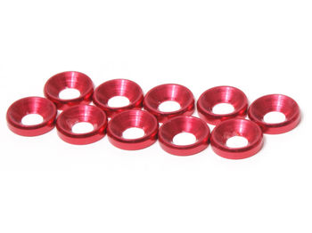 M4 CS Washer 10pcs (Red) by JQRacing
